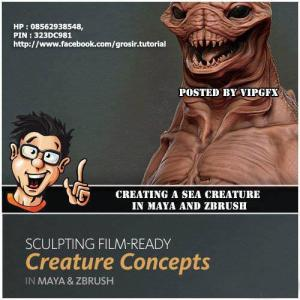 Digital tutor - Creative Development Creating a Sea Creature in Maya and ZBrush
