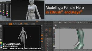 Digital Tutors - Modeling a Female Hero in ZBrush and Maya 2012