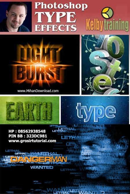 Photoshop Type Effects – KelbyTraining.com – Corey Barker